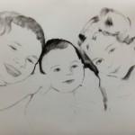 familieportret kinderen laten tekenen