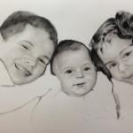 Familie portrettekening